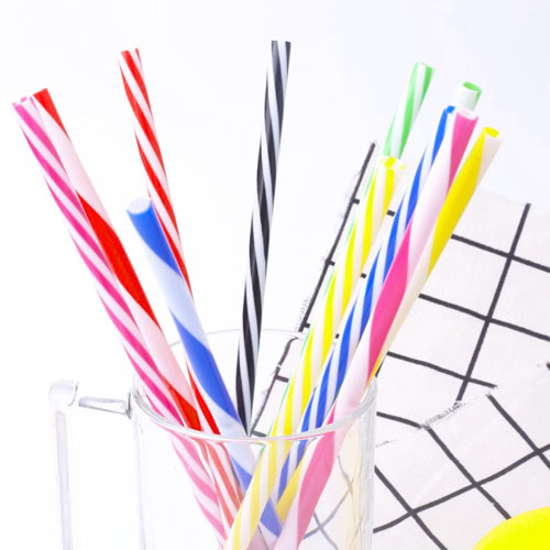 colorful stripe pp plastic Environment-friendly Drinking Straws for kids